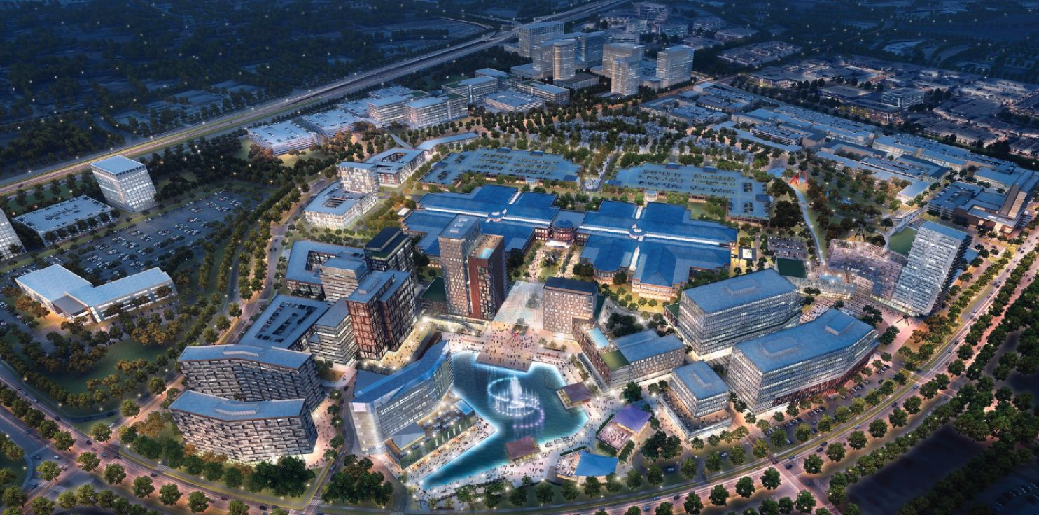 The Campus at Legacy West development is planned with a variety of construction surrounding the old J.C. Penney headquarters.