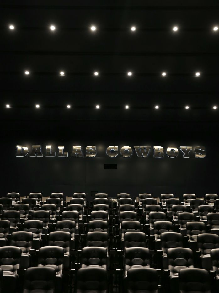 A 152-seat auditorium inside the Dallas Cowboys headquarters at The Star in Frisco on July 17, 2018. One of the things the Cowboys players use the auditorium for is to watch video.