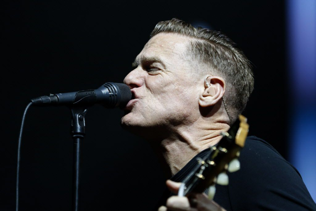 Bryan Adams performs at the Allen Event Center on Sunday.