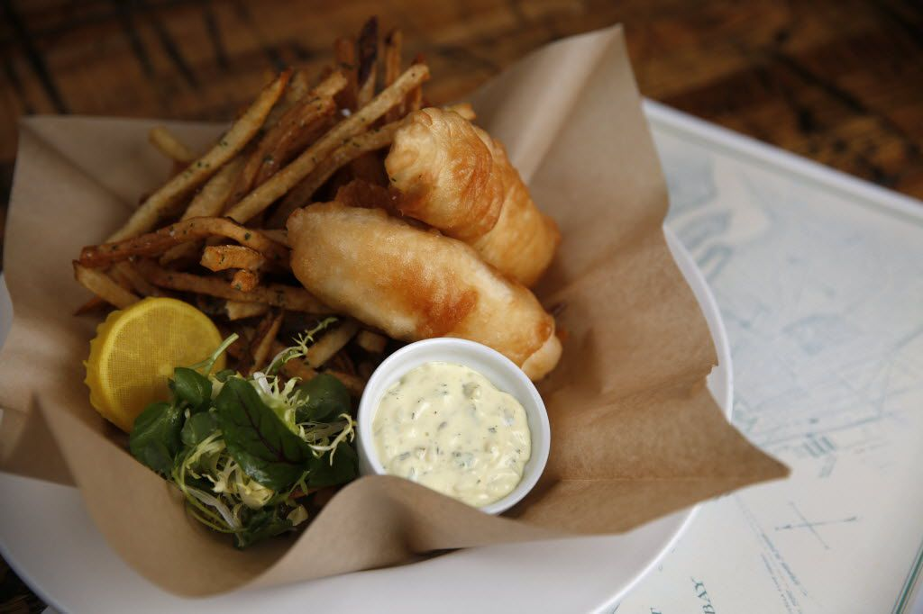 Halibut and chips