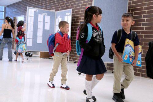 Para algunos niños, volver a la escuela fue más fácil que para otros. MARÍA OLIVAS/AL DÍA