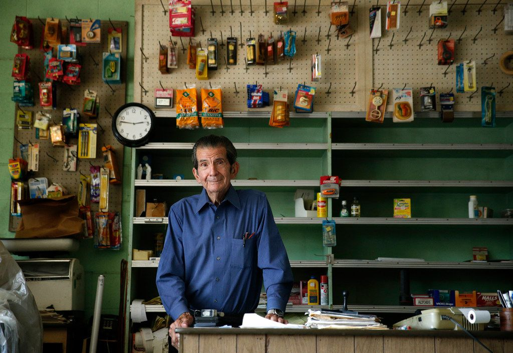 Charlie Villasana, a longtime Little Mexico resident, still goes to his store every day Monday through Friday.