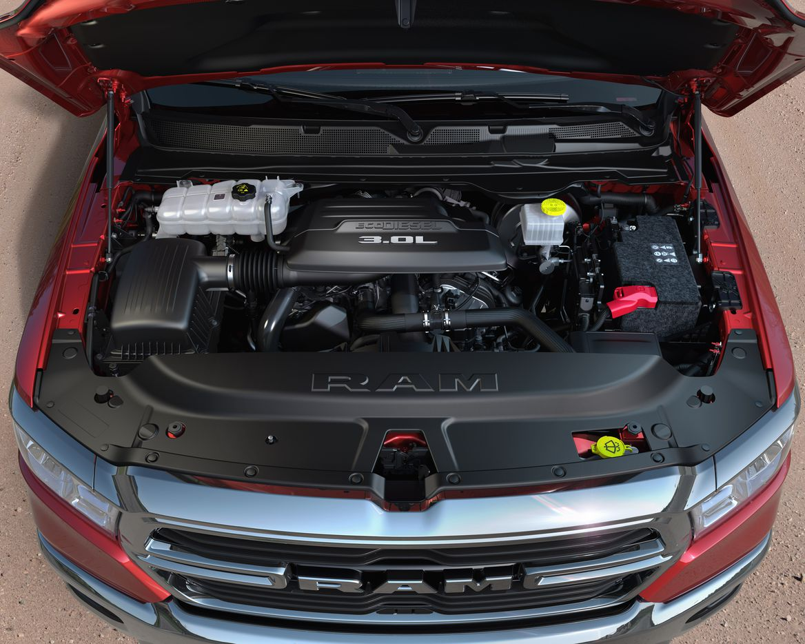 The Ram's 3.0L diesel V-6 is capable of 260 horsepower and 480 pund-feet of torque.