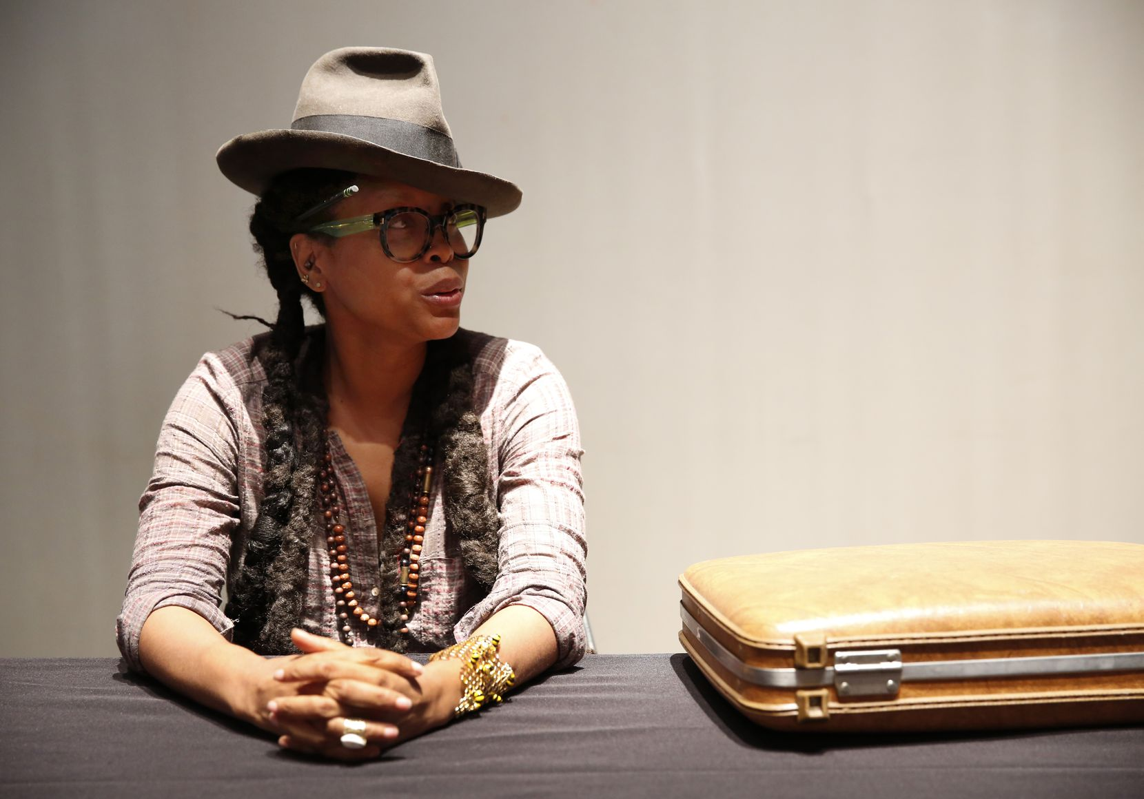 Just so you know, the briefcase contains Badu's laptop. (Rose Baca/The Dallas Morning News)
