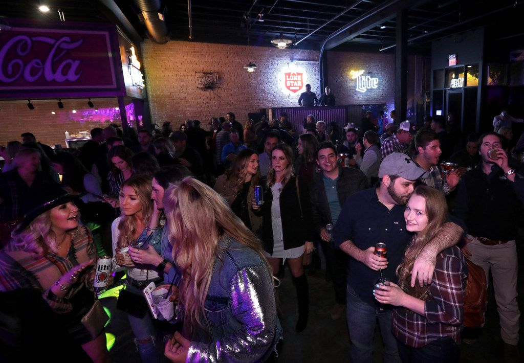 Guests enjoy the music and drinks at Blue Light Live in Dallas, TX, on Oct. 19, 2018. (Jason Janik/Special Contributor)