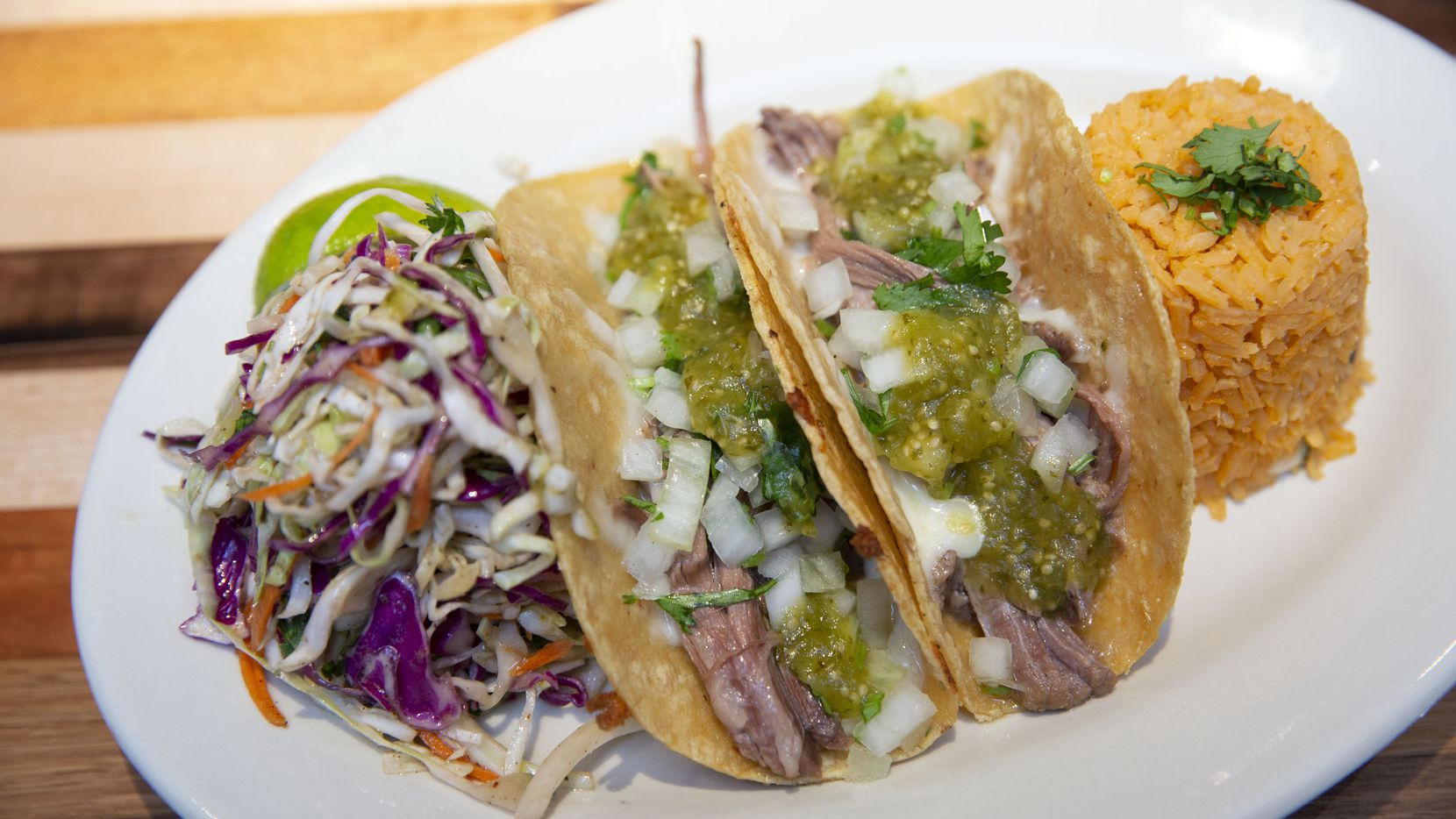Brisket tacos are one of Mesero's most popular items. The new location in the Preston Hollow Village shopping center in Dallas opened Nov. 25, 2019.