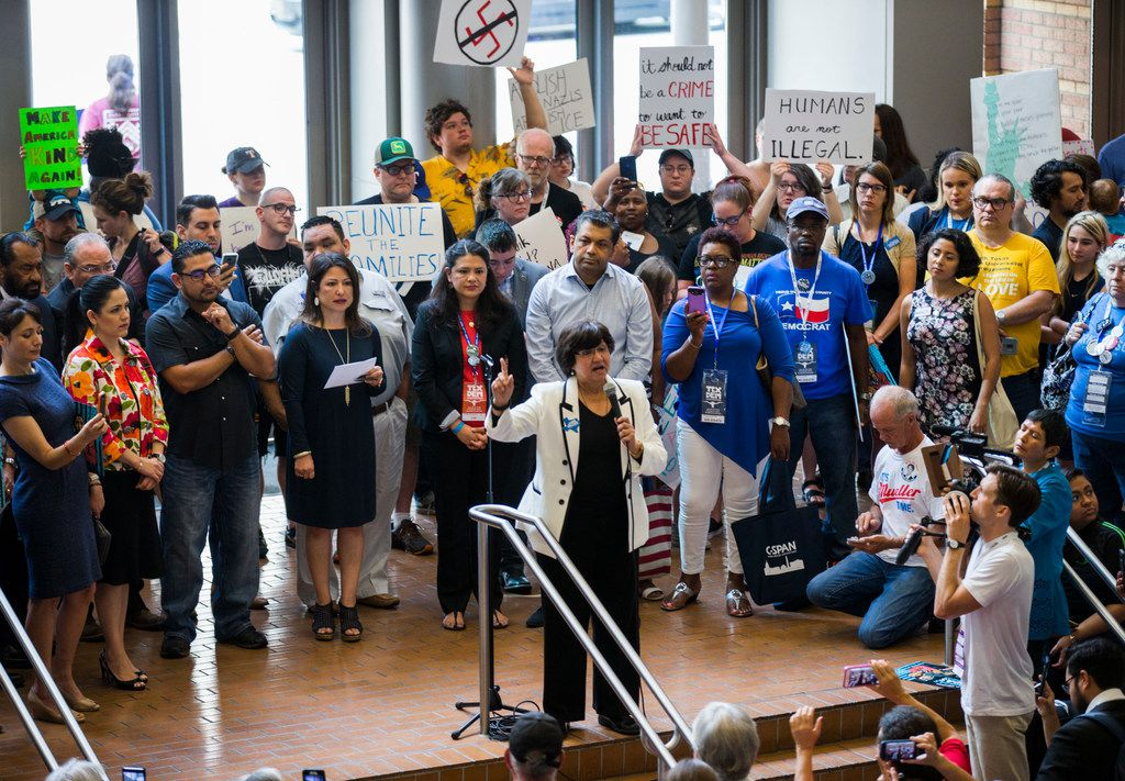 Democratic gubernatorial candidate Lupe Valdez speaks during a Families First Rally at the Texas Democratic Convention on Saturday, June 23, 2018 at the Fort Worth Convention Center in Fort Worth.