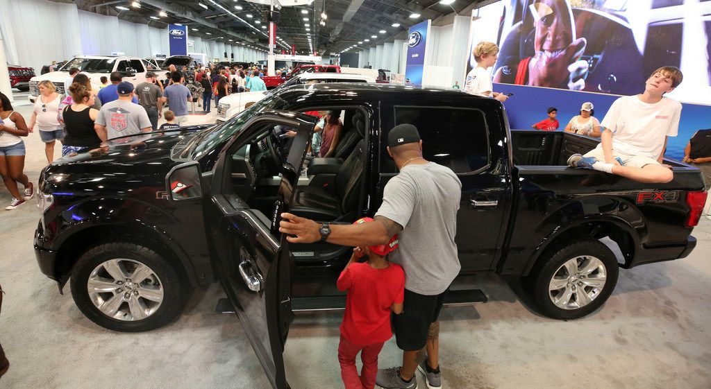 Trucks on display at the State Fair of Texas routinely draw big crowds.