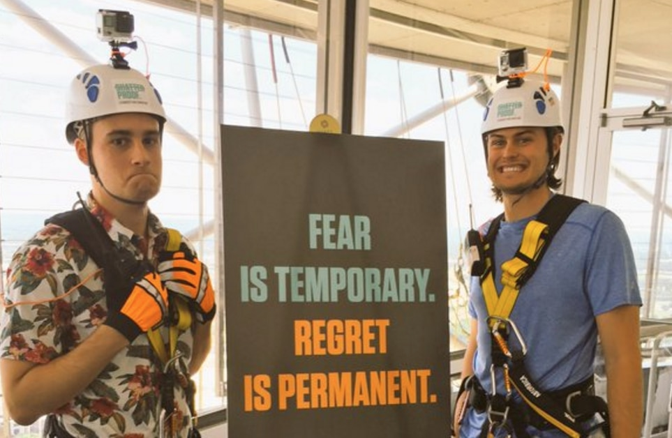 Dom DiFurio and Sean Lester, two Dallas Morning News staffers, rappelled 560 feet down Reunion Tower on Friday, May 20. It was terrifying and exhilarating.