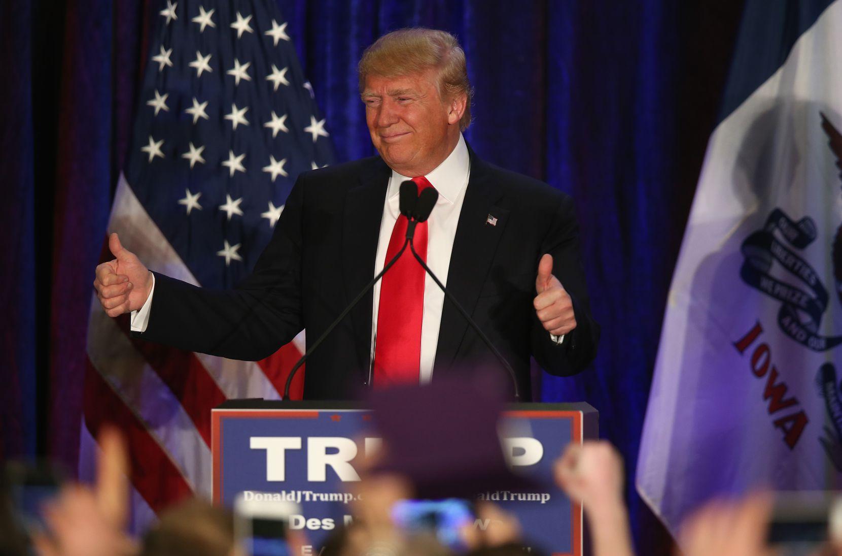 Donald Trump tuvo que sacar su lado modesto.