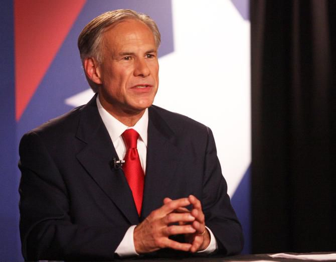 Texas Attorney General Greg Abbott speaks during the Rio Grande Valley Gubernatorial Debate between him and  state Sen. Wendy Davis in Edinburg.
