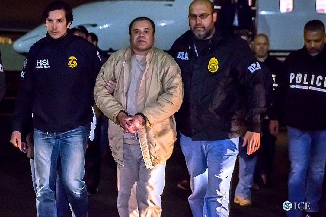 """Imagen de la presentación de Joaquin """"El Chapo"""" Guzman Loera en una corte de Nueva York el 19 de enero del 2017.(Getty Images)"""