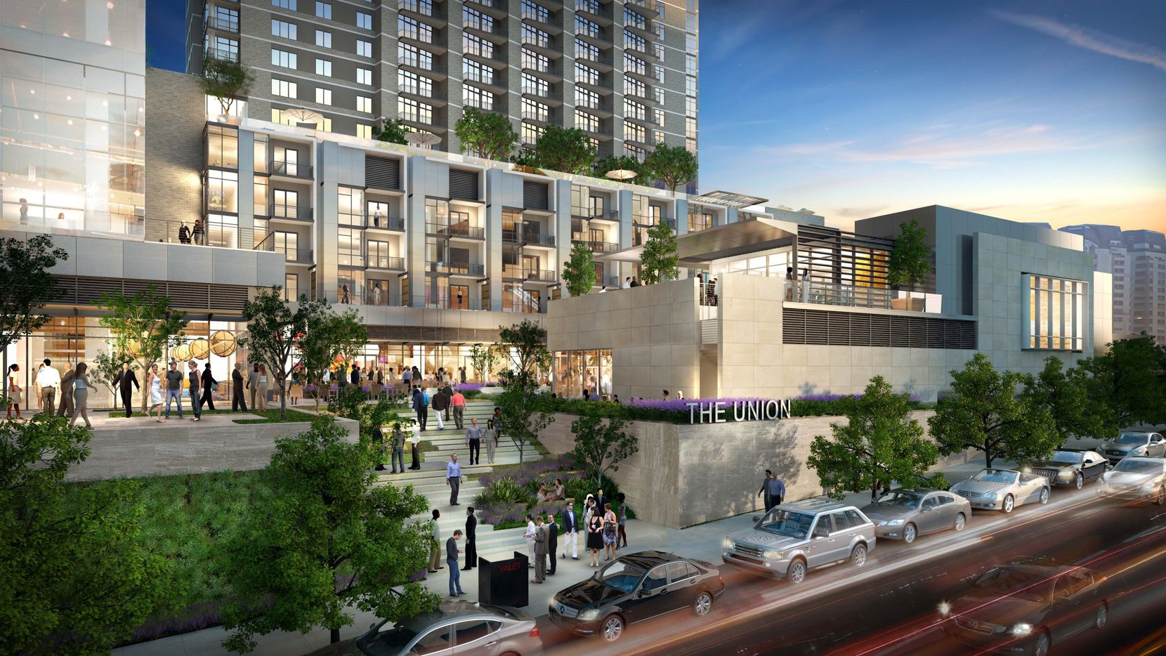 The Union: A two-tower, Uptown Dallas mixed-use development with a 22-story office tower and a 23-story apartment high-rise. The $300 million project will be completed in mid-2018.