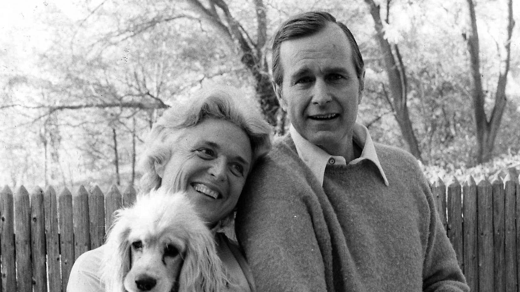 A circa 1974 photograph of Barbara and George H.W. Bush.