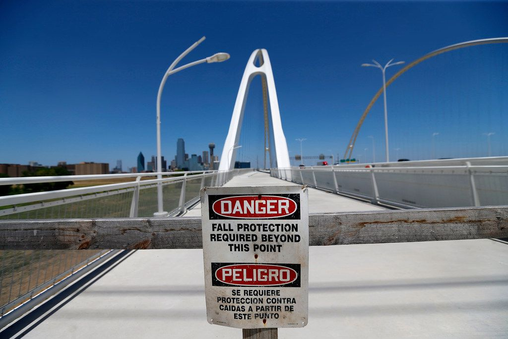 Repairs to the pedestrian portion of the Margaret McDermott Bridge over Interstate 30 may take as long as three years.