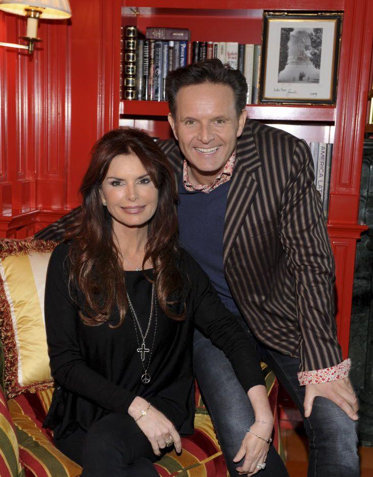 Roma Downey and Mark Burnett in the Highland Park home of literary agent Jan Miller.