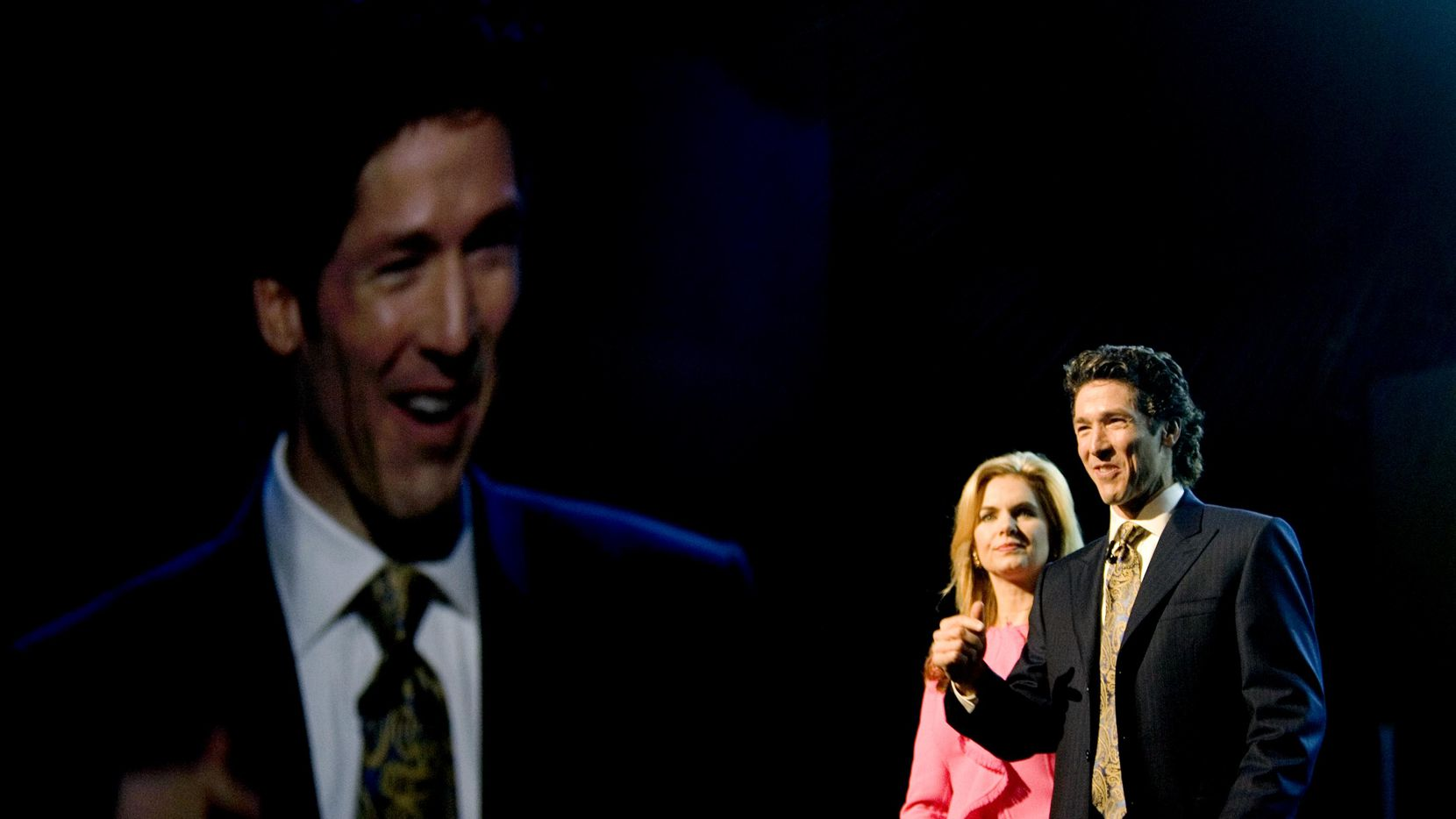 Joel Osteen preached at the American Airlines Center in Dallas in October 2008. Mr. Osteen's Lakewood Church, in Houston, is one of the largest in the United States.