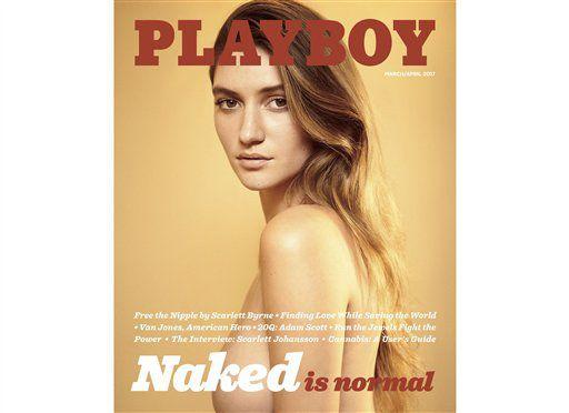 Las imágenes de mujeres desnudas regresaron a la revista Playboy./ AP