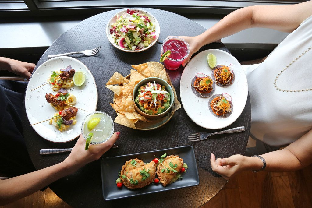 Dishes at Toro Toro steakhouse in Washington, D.C.