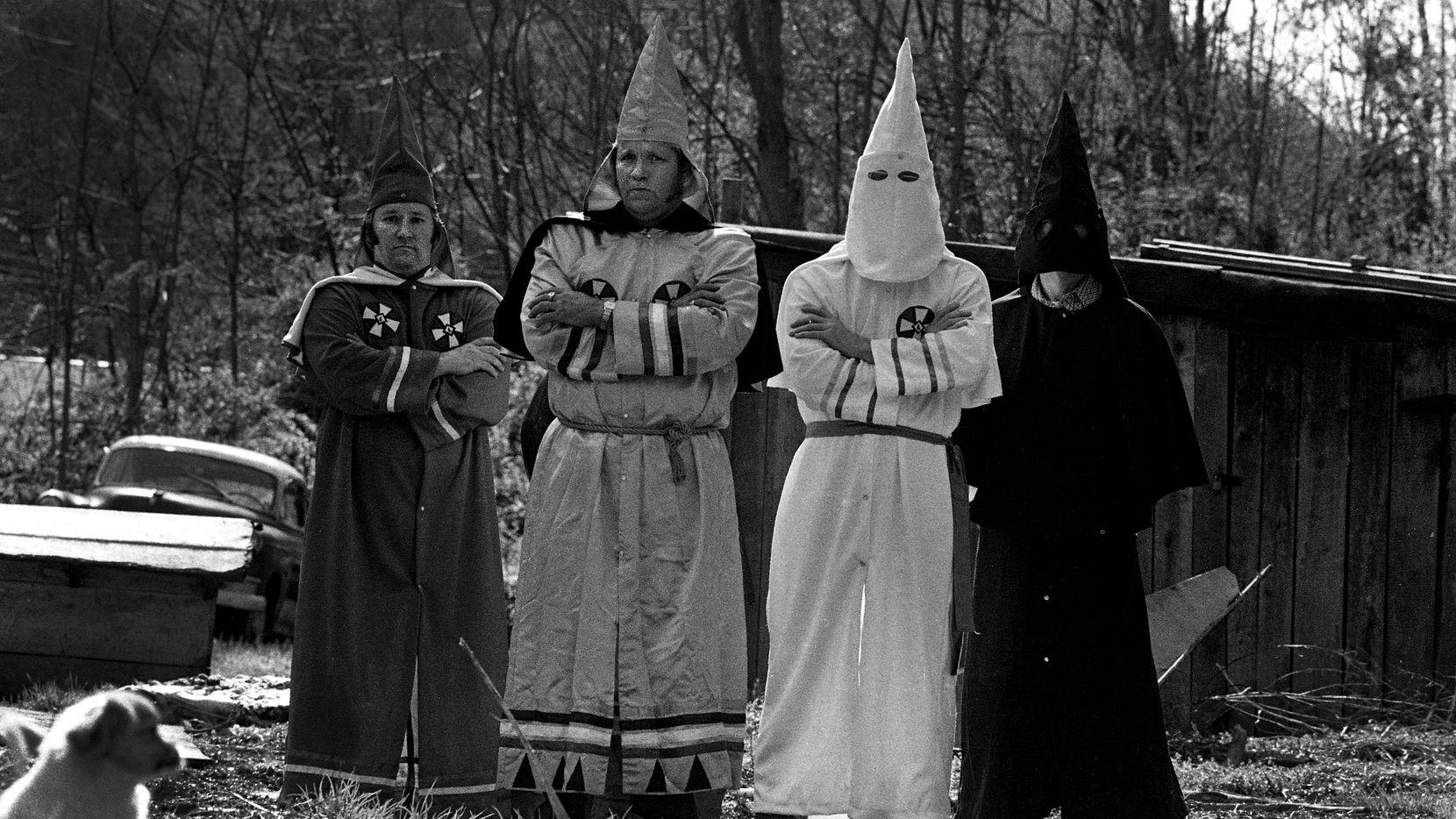 Members of the Klu Klux Klan near Charleston, W.Va., in 1983.  (Bill Tiernan/The Charleston Gazette)
