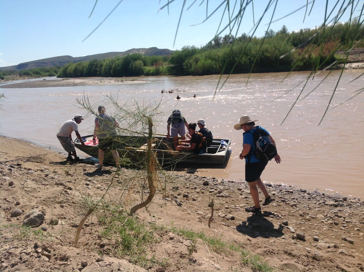 Tourists board the ferry on the banks of the Rio Grande after visiting the small town Boquillas, Mexico  The a border crossing opened in Big Bend National Park in 2013 and 11,000 people used the ferry this past fiscal year.