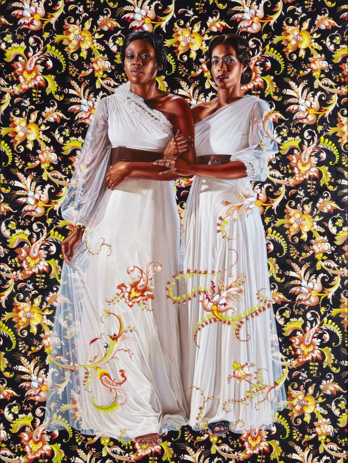 'The Two Sisters,'  Kehinde Wiley, Collection of Pamela K. and William A. Royall Jr. Courtesy of Sean Kelly, New York.   Kehinde Wiley.