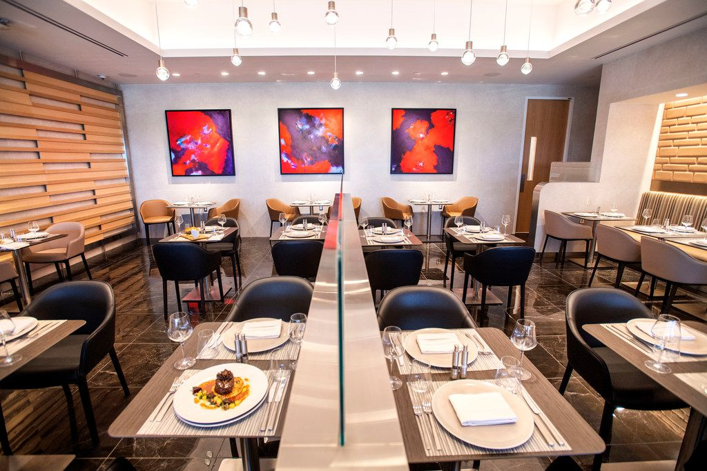 An overall view of the Flagship First Dining area in the new American Airlines Flagship Lounge on Monday, May 13, 2019 in Terminal D at DFW Airport in Grapevine, Texas. (Jeffrey McWhorter/Special Contributor)