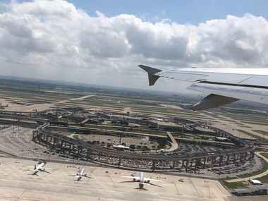 This undeveloped area across from Terminal E at DFW International Airport is the site of the planned 6th terminal. This photo was taken on May 17, 2019, upon takeoff.