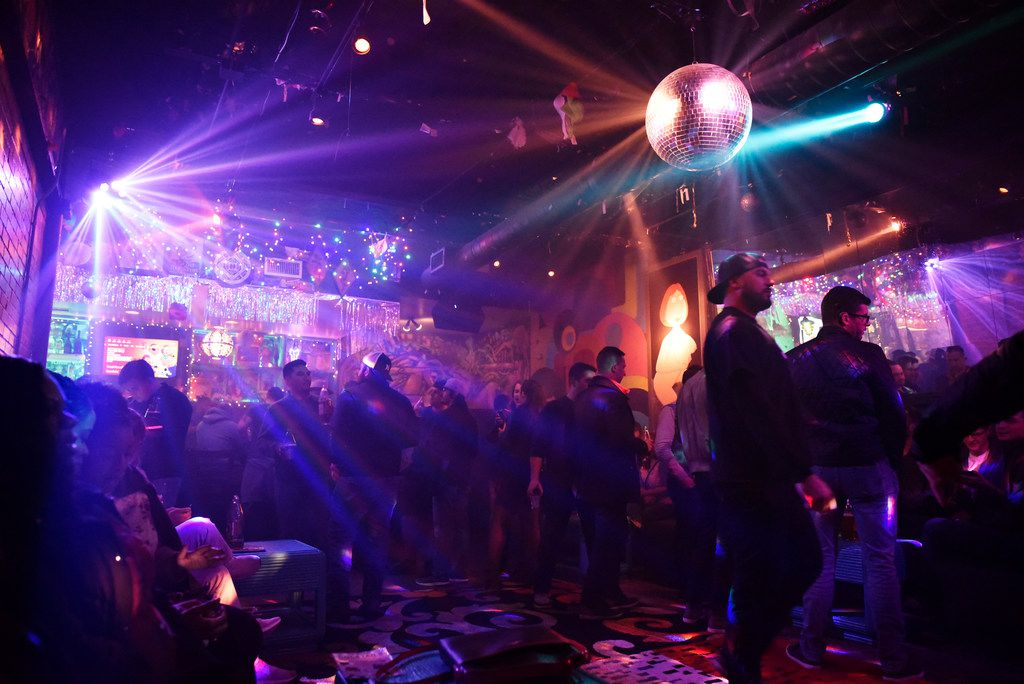 The dance floor inside the pop-up bar the Drunken Clam, Thursday night Jan. 10, 2019 in Dallas. Drunken Clam is themed after the bar in Family Guy. Ben Torres/Special Contributor