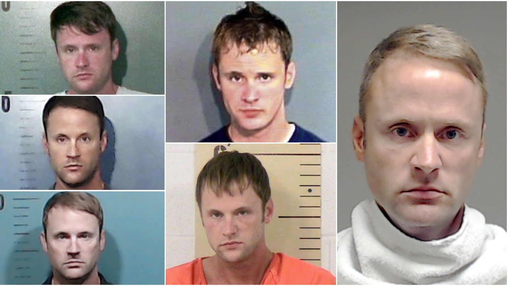 These are some of the jail booking mugs for John Wright Martin, who has been arrested multiple times in Texas. On the left are are mugshots from Taylor County in 2013, 2017 and 2018. The center column has mugshots from Brazos County in 2006 and Burnet County in 2010. The far right is Martin's booking mug in Collin County after his felony drunken-driving arrest on April 22, 2016. Martin is accused of stealing money while working as a personal assistant for Gearbox Software CEO Randy Pitchford and his wife, Kristy Pitchford.