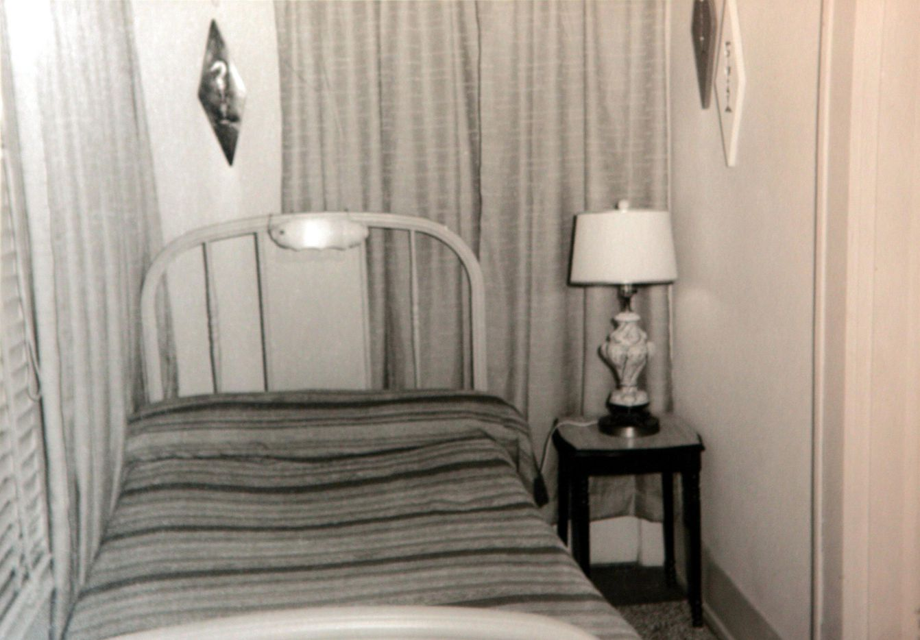 A picture from the files of Patricia Puckett Hall showing the room that Lee Harvey Oswald rented during the time he assassinated President Kennedy.