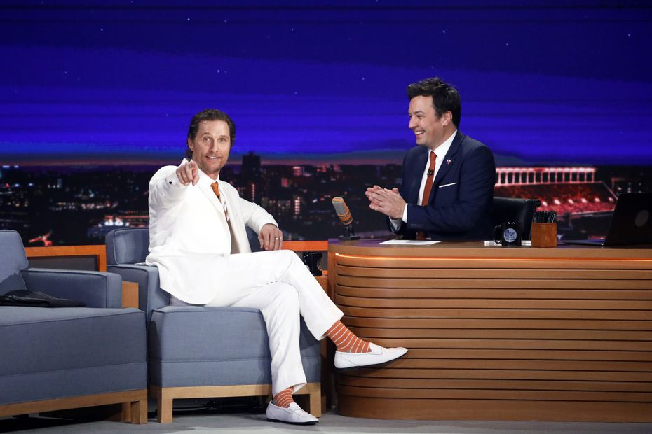Actor Matthew McConaughey, an Austin native, was Jimmy Fallon's first guest on Nov. 7, 2019.