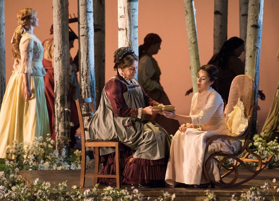 """The Dallas Opera held a dress rehearsal of Tchaikovsky's """"Eugene Onegin"""" at the Winspear Opera House on Tuesday."""