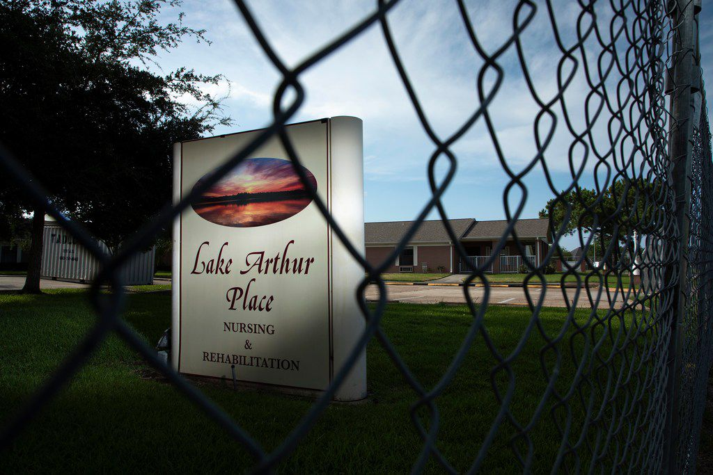A fence surrounds the vacant Lake Arthur Place nursing home on August 20, 2018, The nursing home didn't reopen after Harvey struck last August. The state has reopened its investigation into what happened at Lake Arthur Place during the storm.