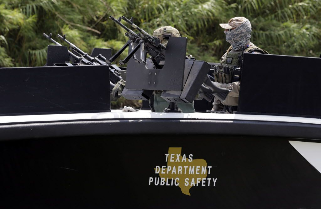 Texas Department of Safety troopers patrol the Rio Grande. The DPS has asked for an additional $320 million for border enforcement, which would put that line item to more than $1 billion for the next biennium. (File Photo/The Associated Press)