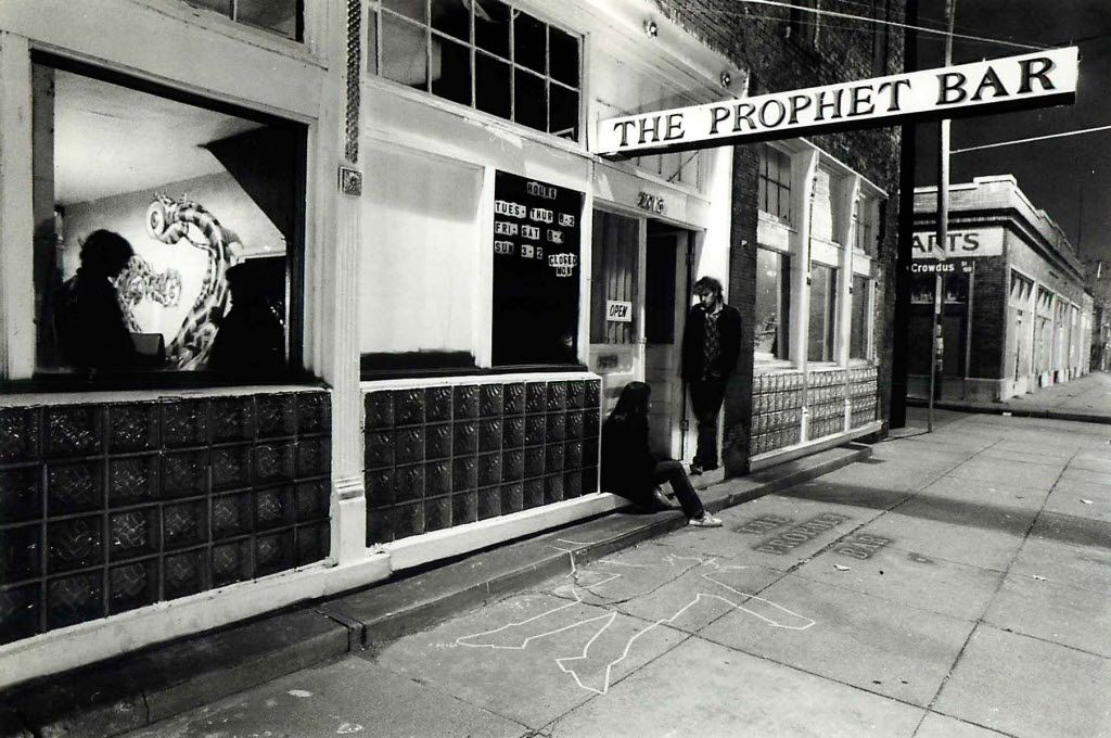 Shot January 7, 1986 - PUBLISHED January 12, 1986 / The Prophet Bar - Deep Ellum - Dallas