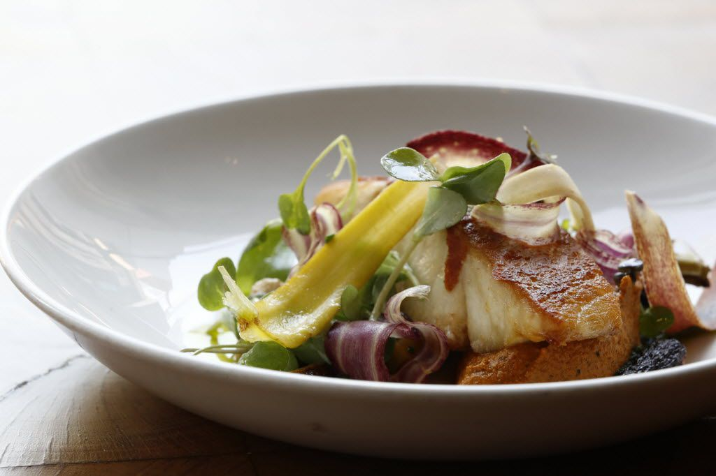 Here's chef Richard Blankenship's roasted gulf catch at CBD Provisions in Dallas.