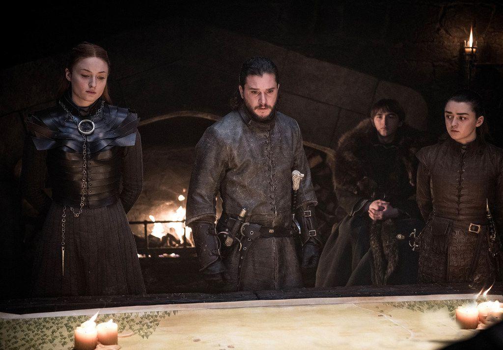 """Among the fan favorites whose fate is uncertain on """"Game of Thrones"""" are Sansa Stark (Sophie Turner), Jon Snow/Aegon Targaryen (Kit Harington), Bran Stark (Isaac Hempstead Wright) and Arya Stark (Maisie Williams)."""