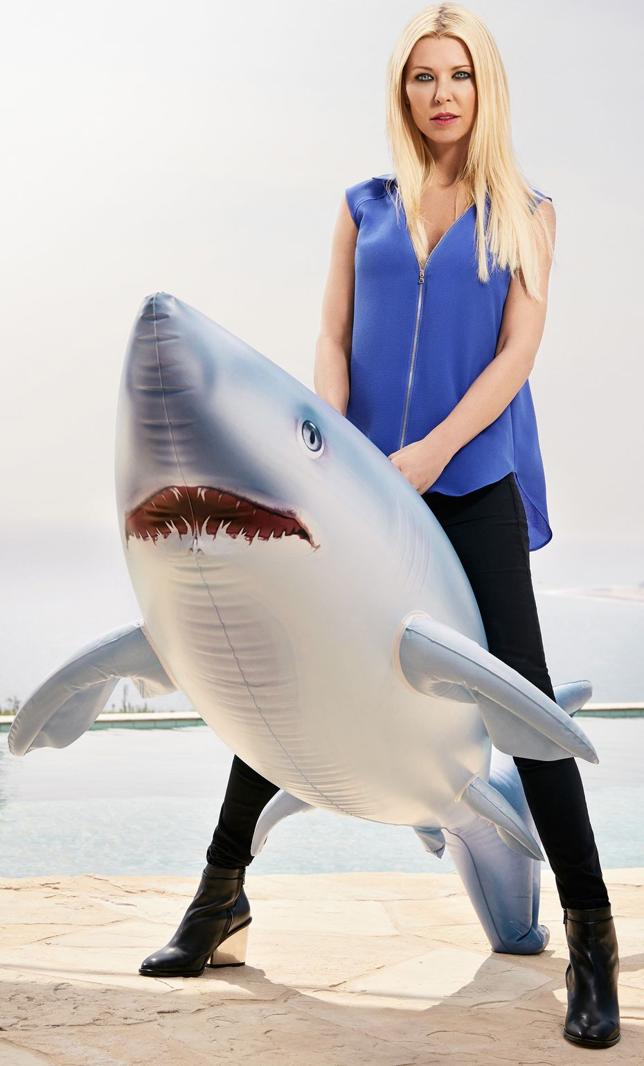 Tara Reid as April Wexler is the First Lady of America's Sharknado fighters.