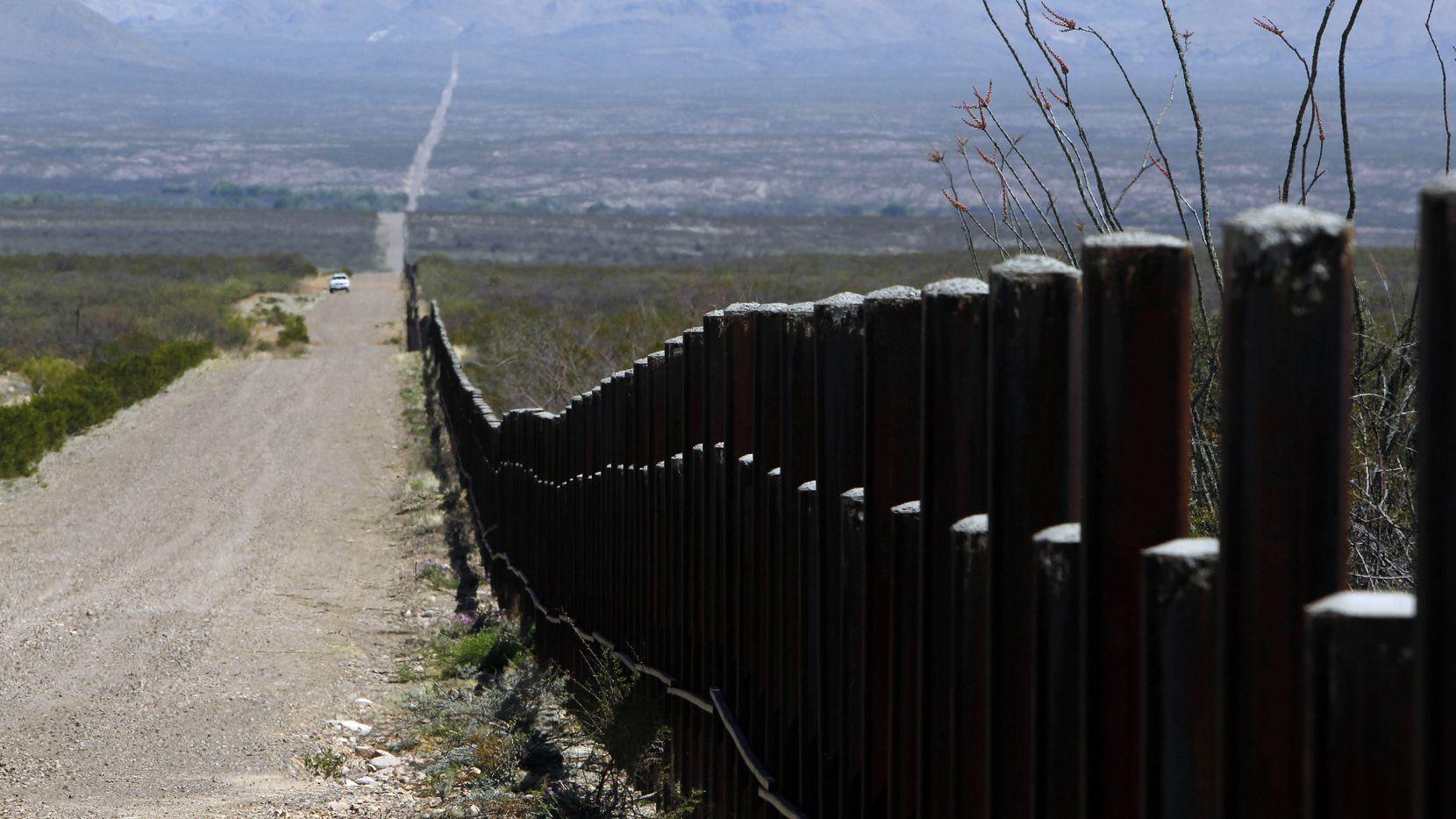 Imagen de archivo de la frontera entre Arizona y México.