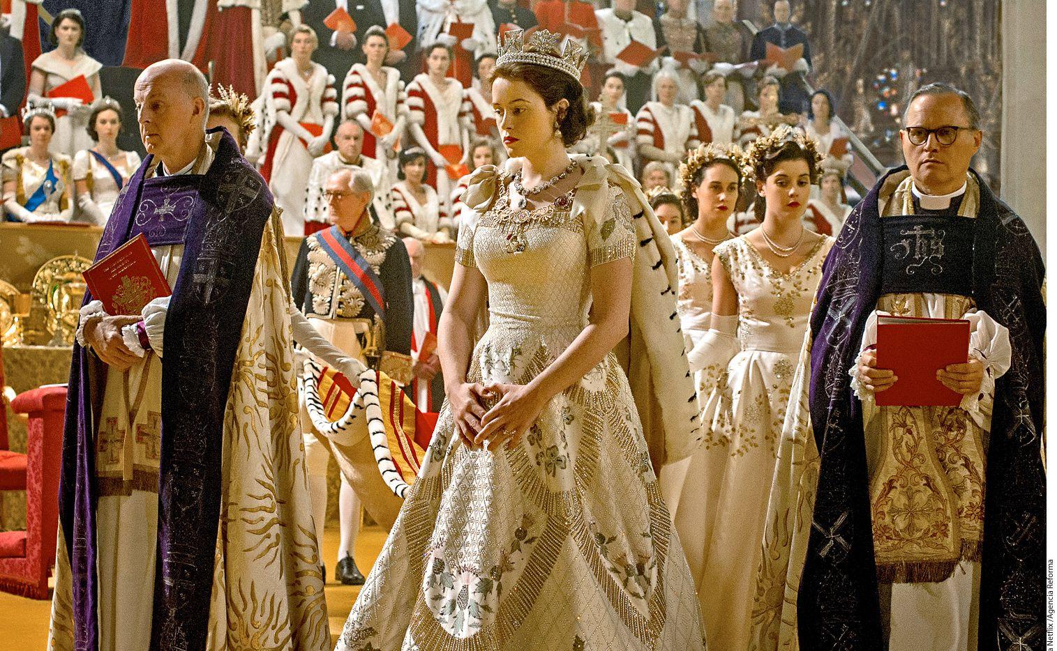 The Crown, cuya producción costó aproximadamente 125 millones de dólares, ya tiene autorizada una segunda temporada en Netflix./ AGENCIA REFORMA