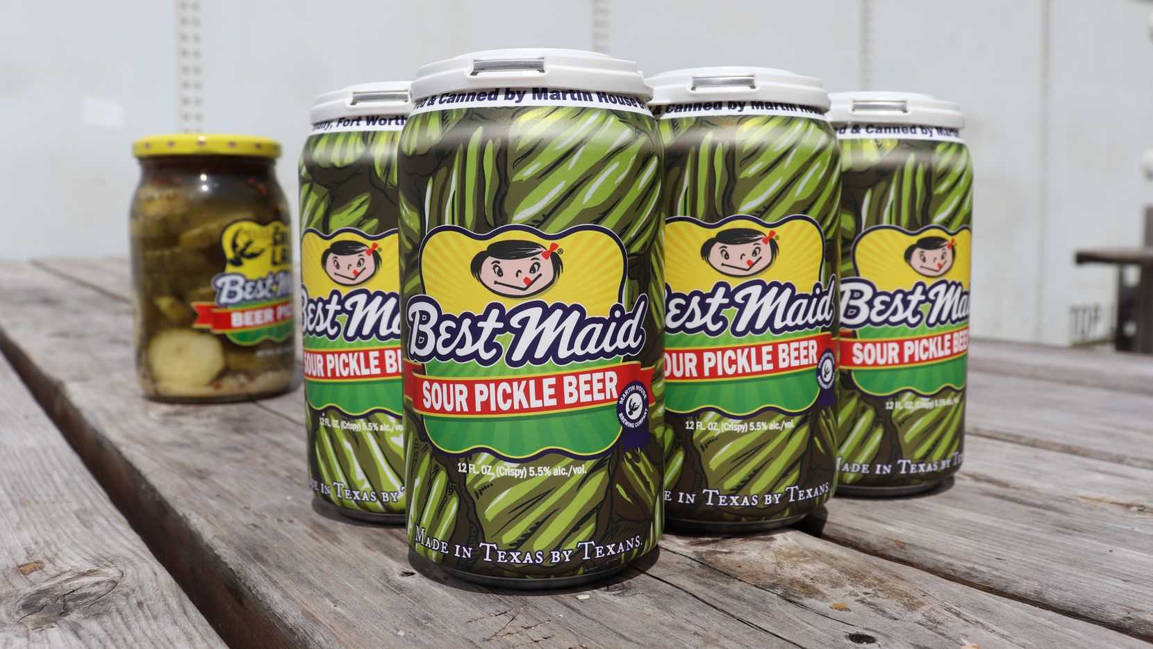 What's the dill with pickle beer? Martin House Brewing Co. teamed up with Best Maid Pickles to show Dallas-Fort Worth.