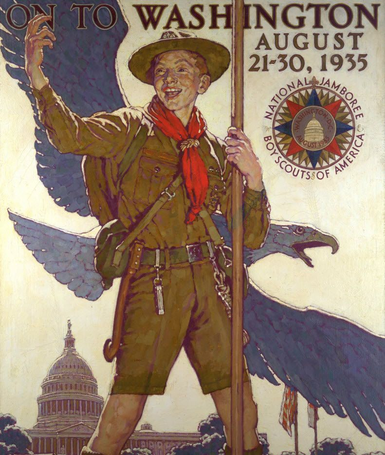 On to Washington, c. 1933, Norman Rockwell, oil on canvas. (National Scouting Museum)