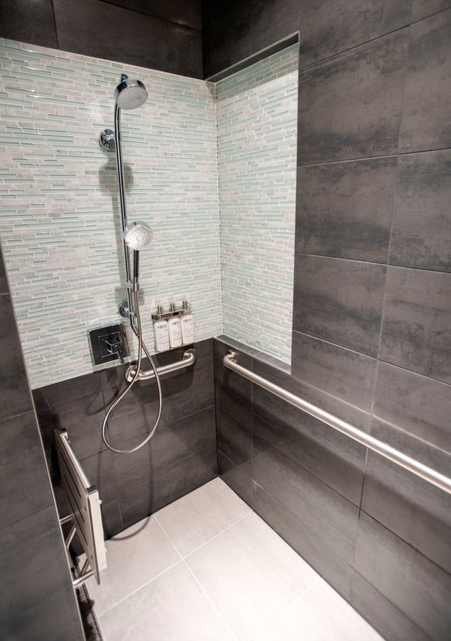 Showers are available in the new American Airlines Flagship Lounge on Monday, May 13, 2019 in Terminal D at DFW Airport in Grapevine, Texas. (Jeffrey McWhorter/Special Contributor)
