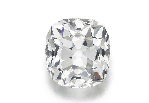 Foto sin fecha distribuida de la casa de subastas Sotheby's de un anillo de diamante de 26,27 quilates. Sotheby's lo subastará en junio, está valuado en 454,000 dólares. (Sotheby's vía AP)