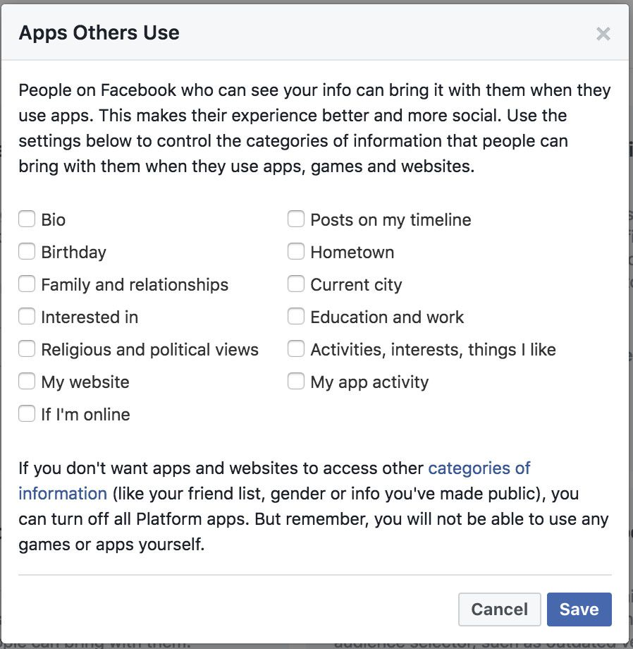 This can be found under Settings/Apps in Facebook.