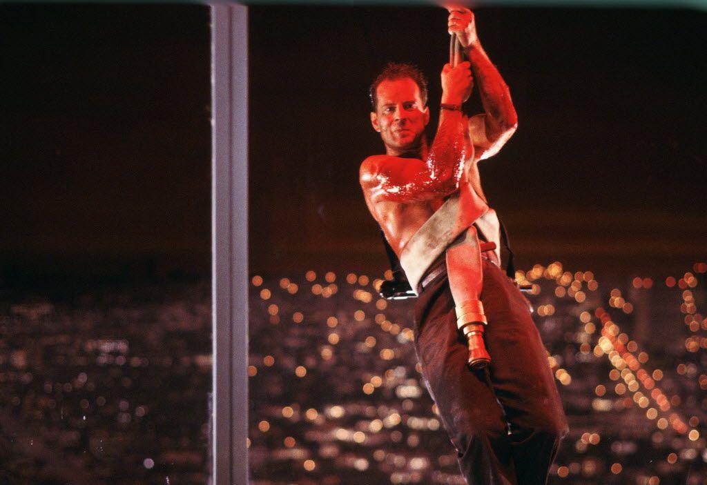 Bruce Willis stars in Die Hard.