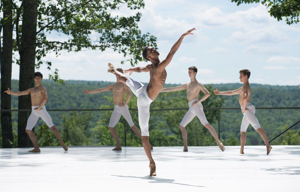 My'Kal Stromile performed at the 2017 Jacob's Pillow Dance Festival.