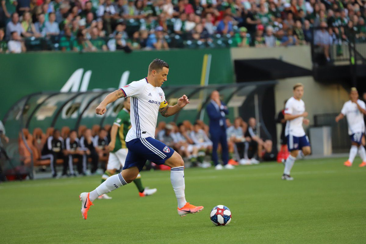 Reto Ziegler dribbles the ball against the Portland Timbers. (6-30-19)