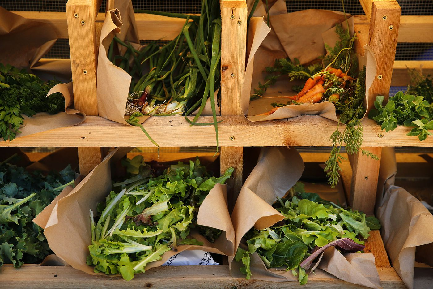 Stone's Throw Farm Co. sells a variety of vegetables at the Farmers Market which is open on Saturday mornings at The Trailhead at Clearfork in Fort Worth.